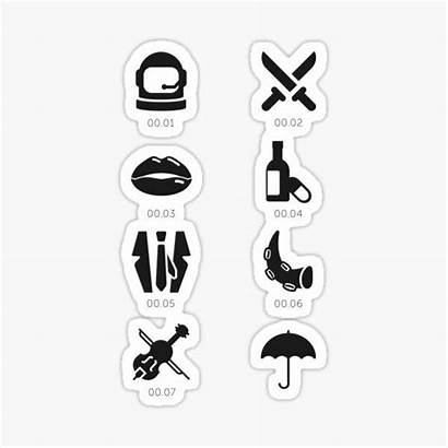 Umbrella Stickers Sticker Academy Redbubble Icons Number