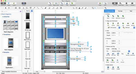 create a visio rack diagram conceptdraw helpdesk