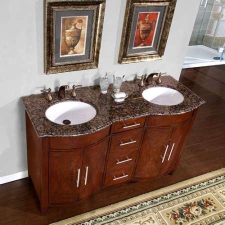 double sink vanity   baltic brown top