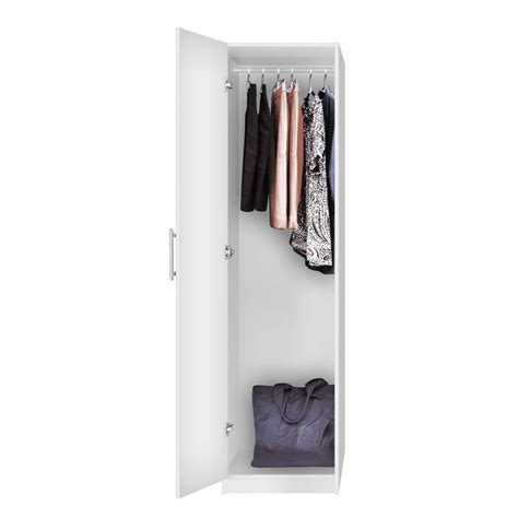 Alta Narrow Wardrobe Closet   Left Opening Door   Contempo