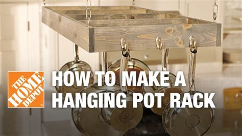 How to Make a Hanging Pot Rack   YouTube