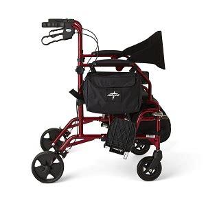 300 lb capacity rollator transport chair combo combination rollator transport chair medline