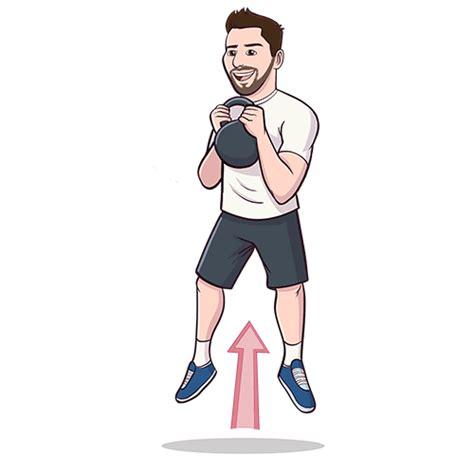 squat jump kettlebell blast