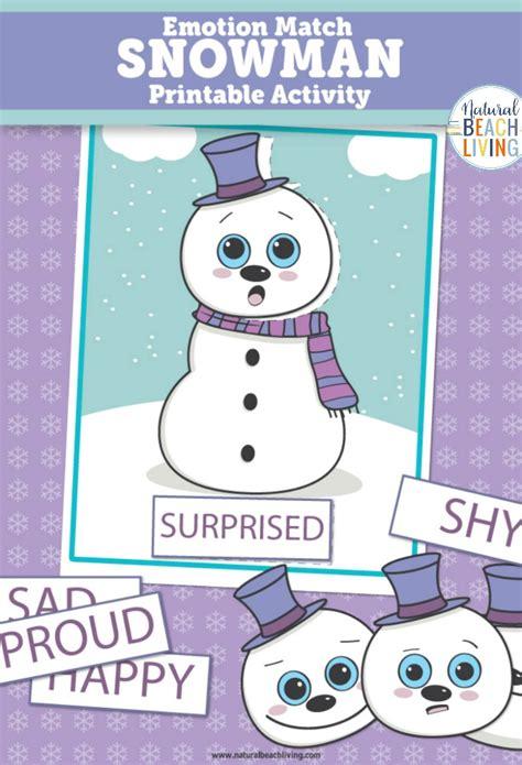preschool emotions printables snowman activities 935 | Snowman Emotions 1