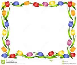Spring Flower Border Clip Art Frames