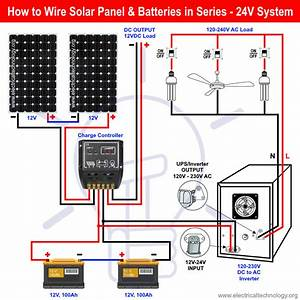 How To Wire Solar Panel  U0026 Batteries In Series For 24v System