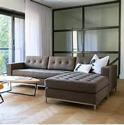 Living Room Design With Brown Tufted Sectional Chaise Lounge Sofa Bed Bedroom Design Ideas 20 Decor For Minimalist Ideas Living Room With Comfortable Sofa Bed Minimalist Modern Home Decor Red Sofa Black Carpet Rug OLPOS Design