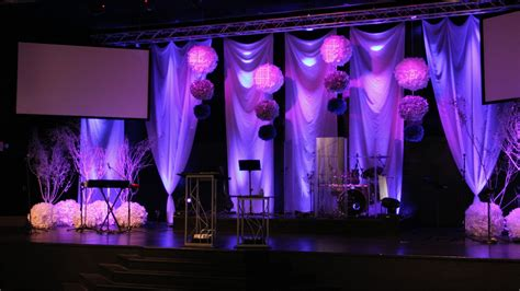 stage decorations ideas snowballs church stage design ideas
