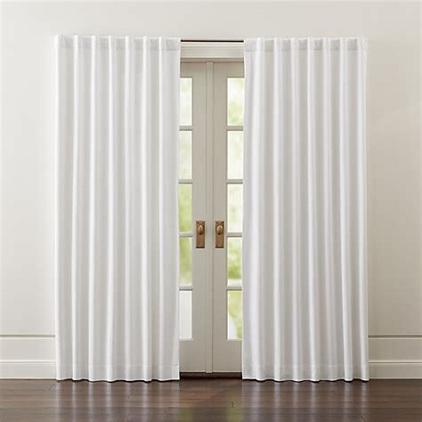 White Curtains Drapes - wallace white blackout curtains crate and barrel