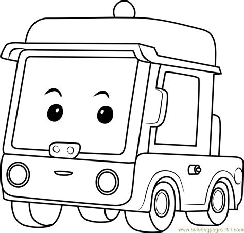 beny coloring page  robocar poli coloring pages