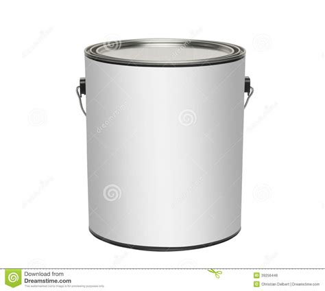 Paint Can, Isolated On White Stock Photo  Image Of