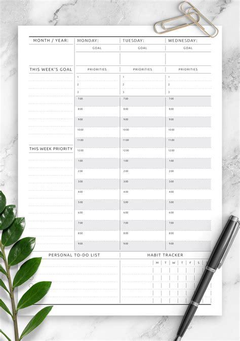 printable weekly planner undated original style