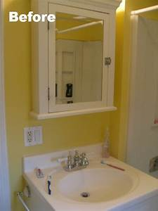 bathroom makeover sources and more pictures teeny ideas With what kind of paint to use on kitchen cabinets for wall art man climbing rope