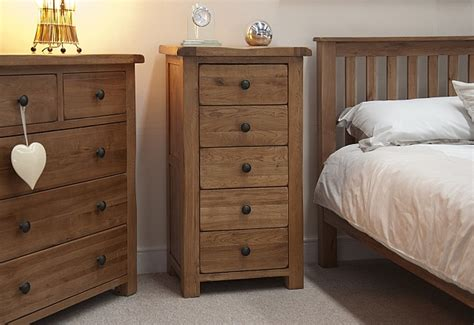tilson solid rustic oak bedroom furniture narrow