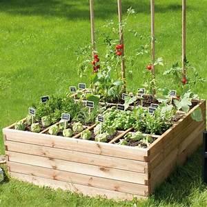 Bac En Bois Pour Potager : bac a fleur en bois jardiland ~ Dailycaller-alerts.com Idées de Décoration