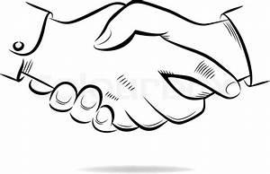 Hand shake vector sketch | Stock Vector | Colourbox