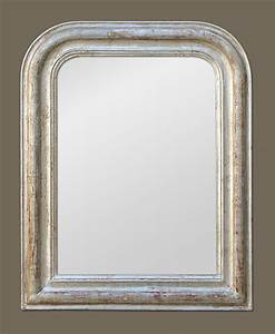 Miroir Vénitien Ancien : petit miroir louis philippe dorure imitation argent vieilli ~ Preciouscoupons.com Idées de Décoration