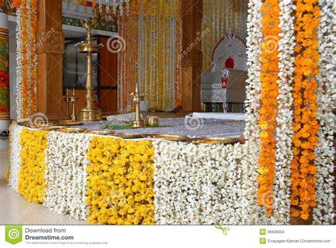 kerala wedding flower decoration editorial stock image