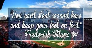 You can't steal second base and keep your foot on first