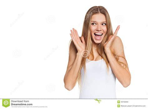 Images Of Excitement Surprised Happy Looking Sideways In Excitement