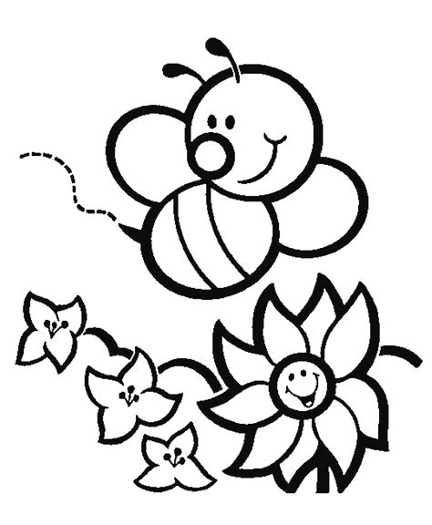 Coloring Bee by Bee Coloring Pages Preschool And Kindergarten