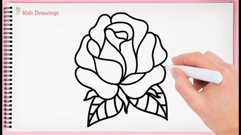 draw rose easy step  step learn drawing rose
