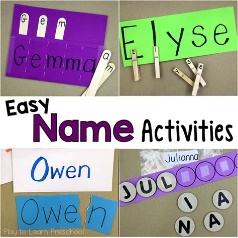 title one preschool easy do it yourself name activities for preschoolers the 911