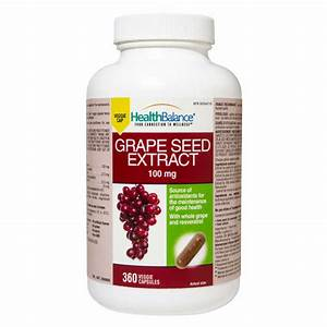 Health Balance U00ae Grape Seed Extract 100mg  360 Softgels