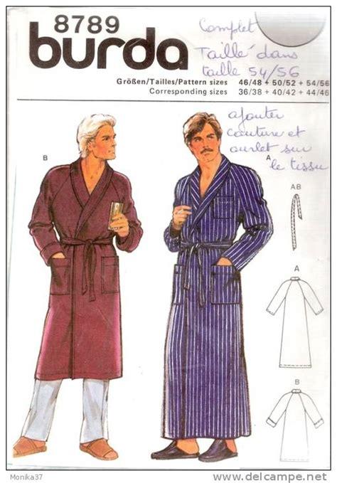 patron robe de chambre modèle couture robe de chambre