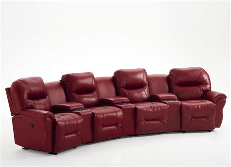 theater with reclining seats 4 seater power reclining home theater by best home
