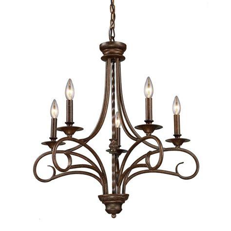 titan lighting gloucester 5 light antique bronze ceiling