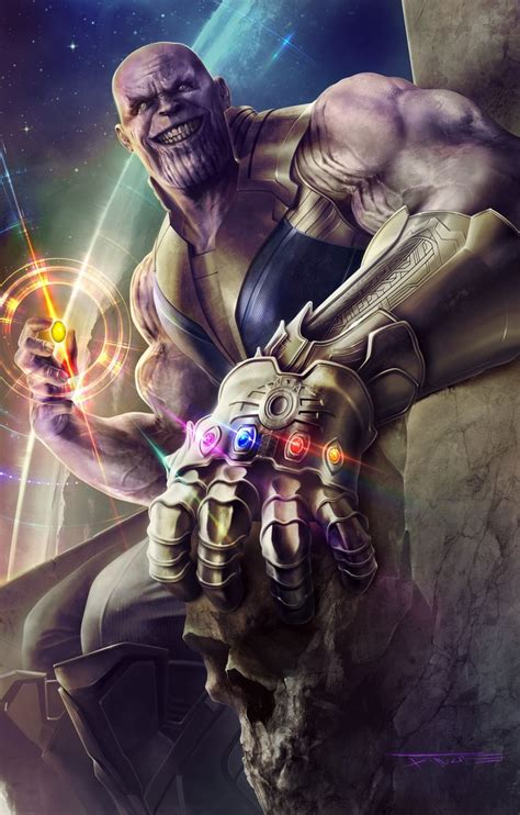 Avengers Infinity War Thanos With Full Infinity Gauntlet