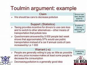 example of toulmin argument outline