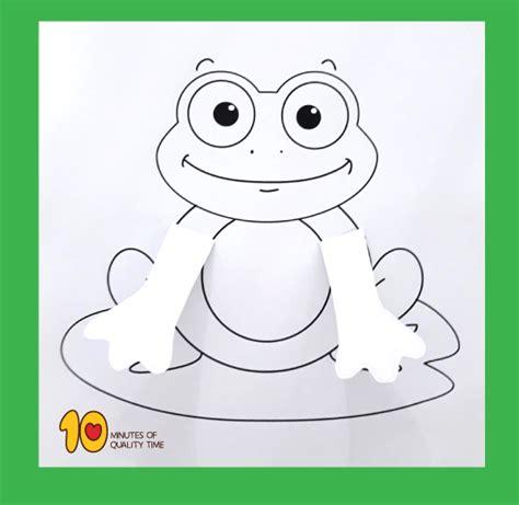 peekaboo frog printable craft  minutes  quality time