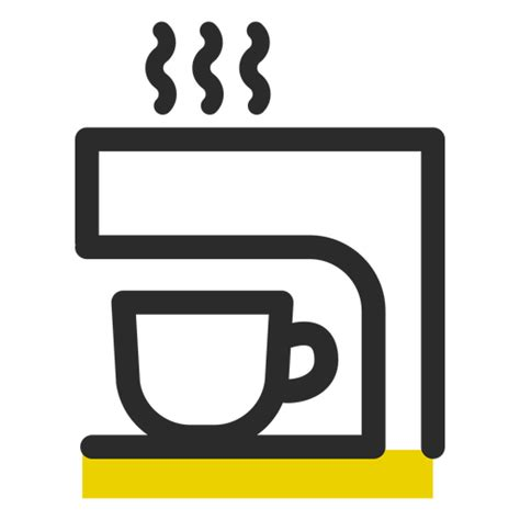 When designing a new logo you can be inspired by the visual logos found here. Coffee machine colored stroke icon - Transparent PNG & SVG ...