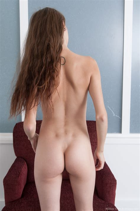 Young Willow Shows Off Hairy Pits And Hairy Pussy