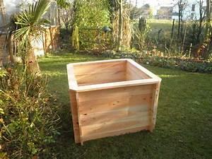Bac En Bois Pour Potager : bac potager carr cm 120x120 en bois montage par ~ Dailycaller-alerts.com Idées de Décoration