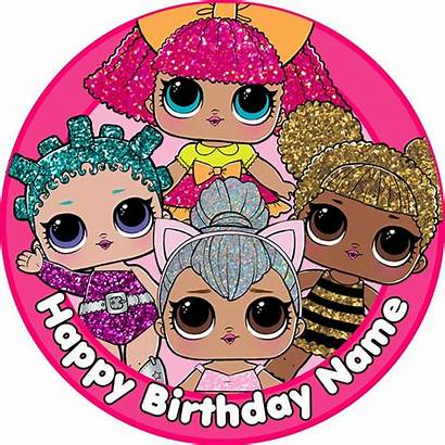 Lol Surprise Birthday Dolls Cake Topper Party