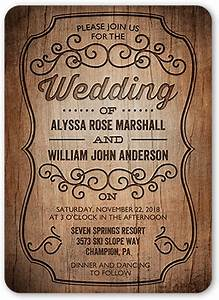 rustic romance 5x7 wedding invitations shutterfly With wedding invitation samples shutterfly