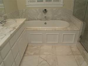 Bianco Calacatta Marble bathroom - Traditional - Bathroom