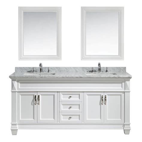 white marble vanity top design element hudson 72 in w x 22 in d x 35 in h