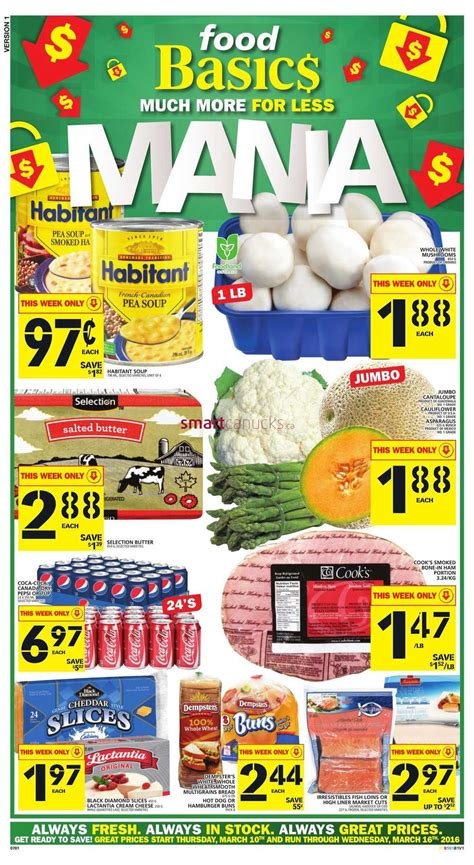 basics of cuisine food basics canada flyer march 10 to 16 food basics flyer