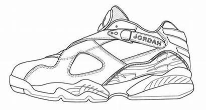 Jordan Coloring Air Pages Shoes Jordans Shoe