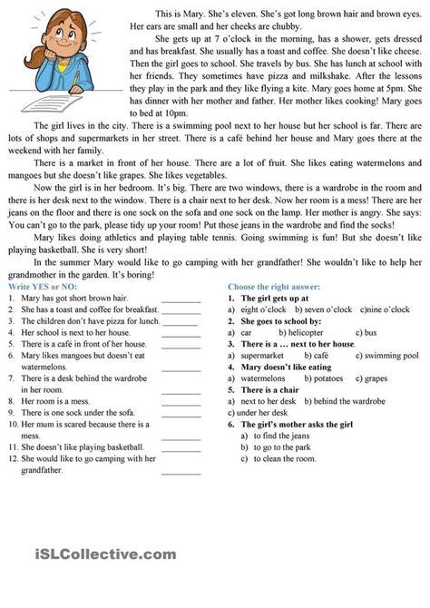 reading comprehension reading comprehension worksheets