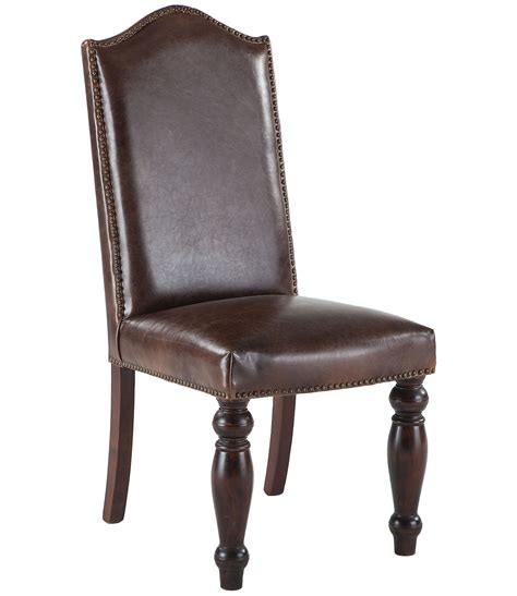 leather dining room chairs with nailheads dining room
