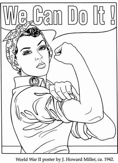Coloring Pages Rosie Riveter Printable Womens Colouring