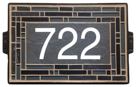 craftsman house numbers black cathedral house number sign craftsman house