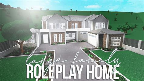 roblox bloxburg large family roleplay home  youtube