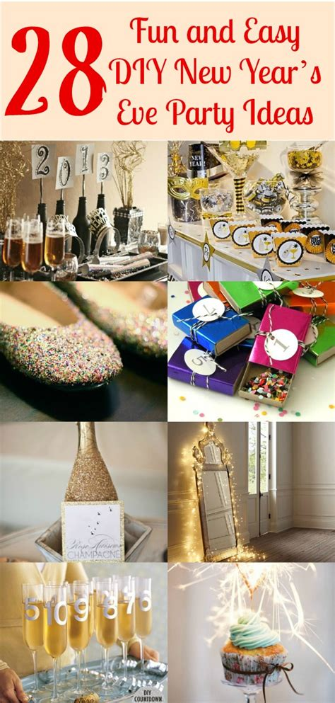 28 Fun And Easy Diy New Year's Eve Party Ideas  Diy & Crafts