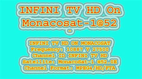 INFINI TV HD On Monacosat-1@52 - Biss Key